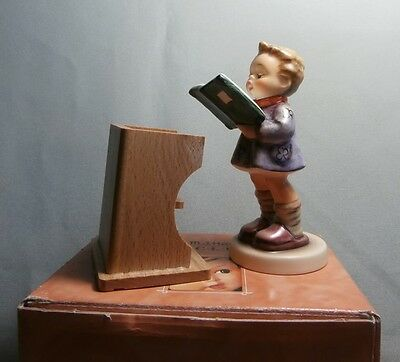 "M.I.HUMMEL ""THE POET 1988"" MEMBERS ONLY 10.0cm TALL - 397/3/0 #1223 MINT & BOX"