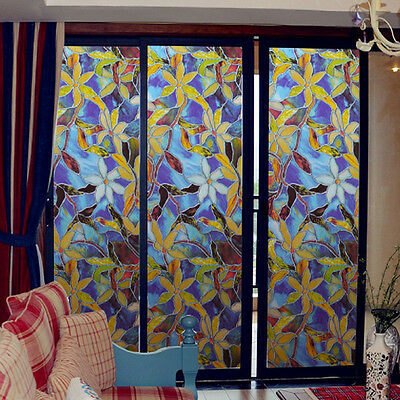 3D Glass Cling Window Film Sticker Glass Adhesive Frosted Privacy Vinyl Decor