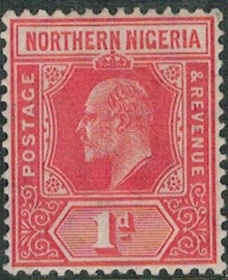 Lot 4105 - Northern Nigeria - 1910 1d red King Edward VII Mint Hinged Stamp