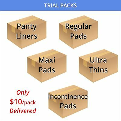 RealCare Sanitary Pad, Panty Liner, Incontinence Pad Full Retail Packs For Trial