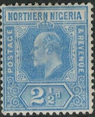 Lot 4107 - Northern Nigeria - 1910 2½d blue King Edward VII Mint Hinged Stamp