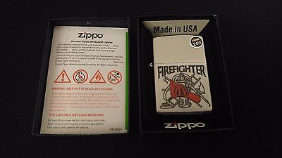 FIREFIGHTER Classic Zippo Lighter Boxed Collectible Z278 Fire Fighter ~ USA