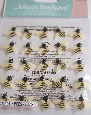 JOLEE'S BOUTIQUE BEES REPEATS Bee Nature Craft Scrapbook Sticker Embellishment