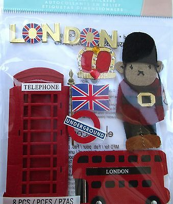 JOLEE'S BOUTIQUE LONDON Double Decker Scrapbook Craft Sticker Embellishment