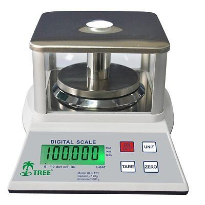 120g / 0.001g Analytical Balance KHR120-3 Weigh Scale Electronic Mass Density