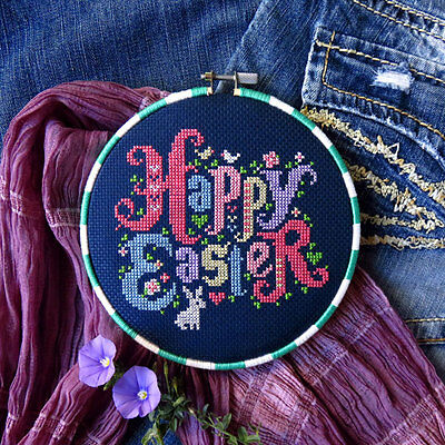 Happy Easter Counted Cross Stitch Pattern - Chart Only