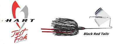 Hart Tackle Buzzbait 3/8oz  10,5gr colore Black Red Tails speciale TOPWATER