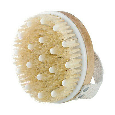 Wooden Body Brush With Spa Massage Natural Bath Shower Bristle Scrubber Brushes