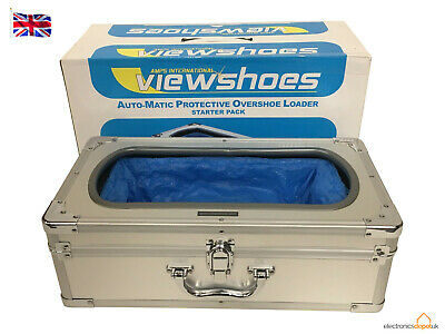 Automatic Shoe Cover Loader Dispenser, 100 Shoe Covers & Carrying Case