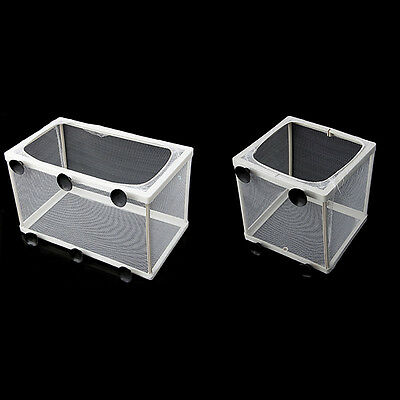 Aquarium Fish Tank Guppy Breeding Breeder Baby/Fry Net Trap Box Hatchery White