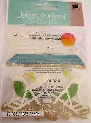 JOLEE'S BOUTIQUE BEACH LEISURE Relax Sun Craft Scrapbook Sticker Embellishment