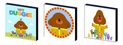 Hey Duggee Art Blocks/ Wall Art Plaques/pictures