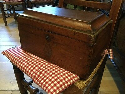 Large Stained Pine Casket Jewellery Box Chest Caddy
