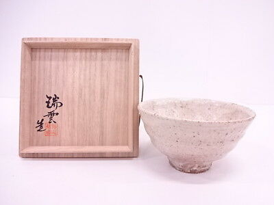 2790092: Japanese Tea Ceremony / Chawan (Tea Bowl) / Hagi Ware / Whote Glaze / Z
