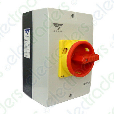Stag IS4P63 Enclosed Rotary Isolator Switch IP65 4 Pole - 63 Amp