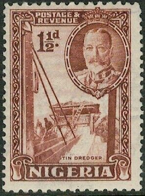 Lot 4127 - Nigeria - 1936 1½d brown King George V Mint Hinged Stamp