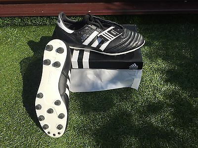 Adidas Copa Mundial Classic K Leather Football Boots FG Firm Ground Black UK NEW