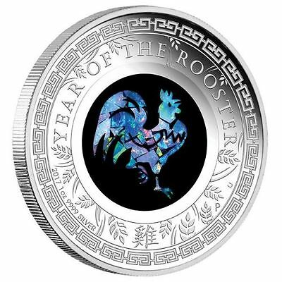 Australian Opal Lunar Series – 2017 Year of the Rooster 1oz Silver Proof Coin