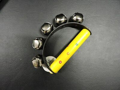 Eleganter - Wooden Patterned Yellow Spots Hand Cluster Bell