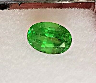 Natural 1.53 Carat Green Tsavorite Garnet Genuine Loose stone Oval gemstone
