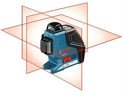 Bosch Gll3-80 Tri Plane Leveling-Alignment Line Laser Horizontal Vertical L-Boxx