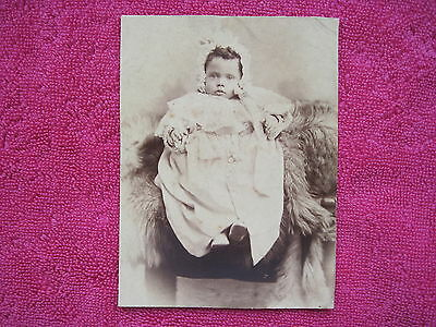 Antique Edwardian (1903 ?) SIDNEY ANGLE London studio BABY photo card mounted