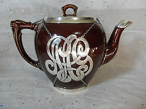 antique Sterling Silver and porcelain  Teapot - October 8, 1913
