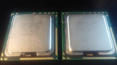 Coppia Pair Cpu Intel Xeon E5620 2.4 Ghz Slbv4 Socket 1366 Processore Server