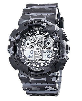 *new* Casio Mens G Shock Grey Camouflage Combi Watch Xl Ga-100Cm-8A   Rrp£199