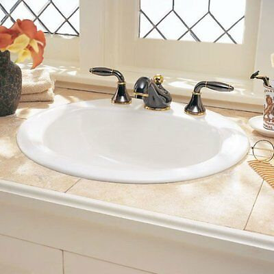 American Standard 0491.019.020 Rondalyn Self-Rimming Countertop Sink with 4-Inch