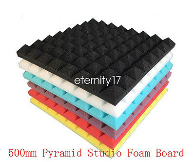 Acoustic Foam Soundproof Sound Stop Absorption Pyramid Studio Board 50x50x3cm