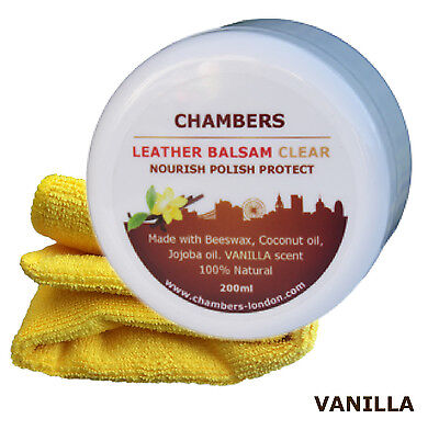 Leather Conditioner & Restorer Chambers Leather Balsam for sofas boots (Vanilla)