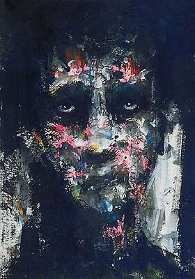 Portrait original in acrylic contemporary by C France
