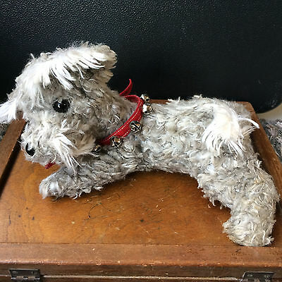 "Vintage Stuffed Animal Dog Schnauzer 12"" Clare Creations"