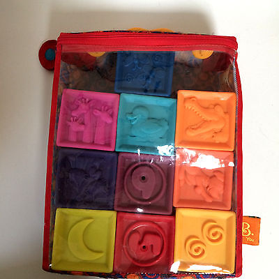 B. Toys Baby's Soft Blocks Wipable Building Blocks set of 10 in Bag