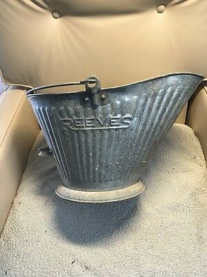 Vintage Reeves #17 Galvanized Coal Ash Bucket