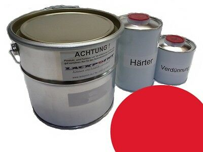 1,75 Liter Set 2K Car paint GDR Flame Red Simson Schwalbe red IFA Lackpoint