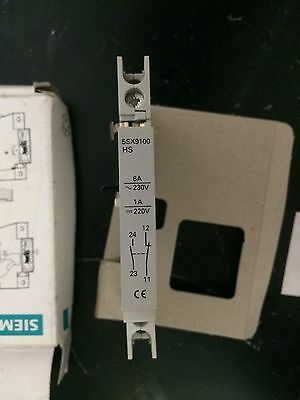 Siemens 5SX9100HS Auxiliary Contact