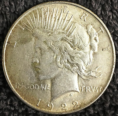 1922-P PEACE Silver Dollar Better Grade NO RES Auction