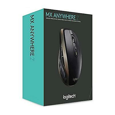 Logitech MX Anywhere 2 Mobile Wireless Bluetooth Black Mouse for Windows and Mac