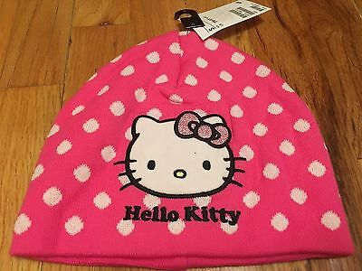 NEW Hello Kitty Beanie Hat Toddler Girls Ages 1.5, 2, 3, 4, 5