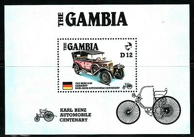 Gambia 1986  Hb 24 Coches Karl Benz Cent. Automobil