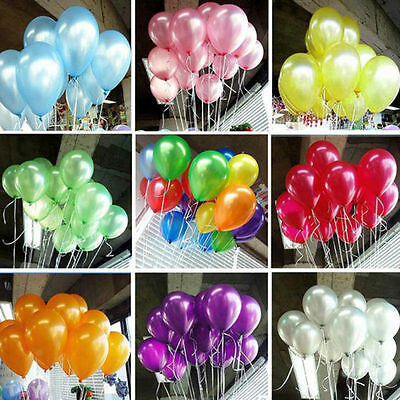 1/100pcs 10 inch Colorful Pearl Latex Thickening Wedding Party Birthday Balloons