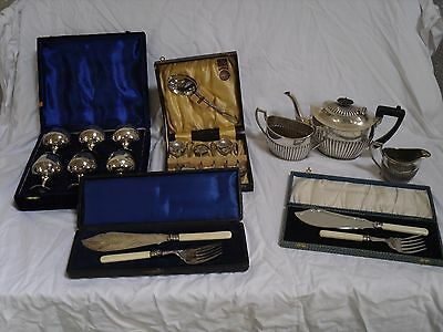 Job Lot Silver Plated Items