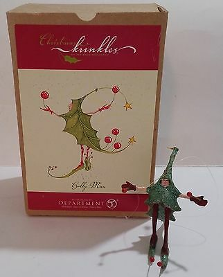 Department 56 Christmas Krinkles Holly Man Ornament W/box