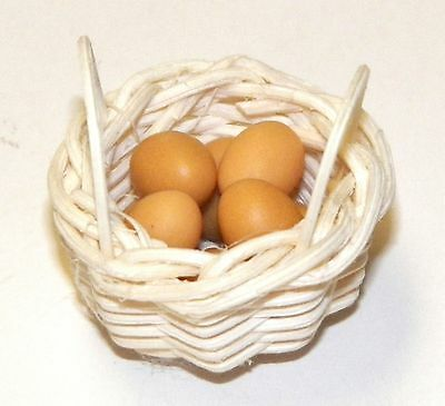 Miniature Eggs in a Basket #K9 Handcrafted All Through The House