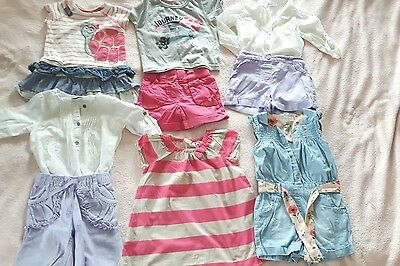 baby girl bundle clothes 12-18 summer