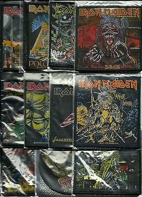 IRON MAIDEN bunch of 11 top sellers WOVEN SEW ON PATCHES official MERCH no.1/2