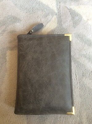 Genuine Grey Crest leather bible cover for standard NWT (DLbi12-E)