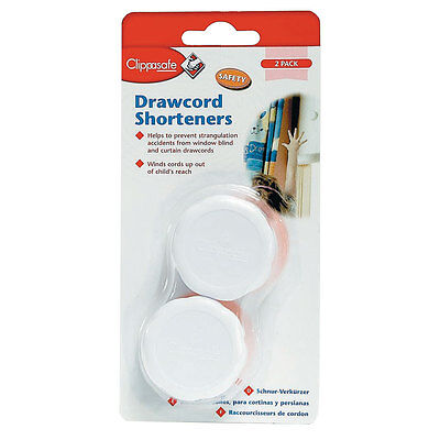 Clippasafe Drawcord Safety Shorteners (2 Pack) - White